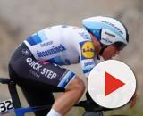 Remco Evenepoel impegnato nella cronometro alla Vuelta San Juan.