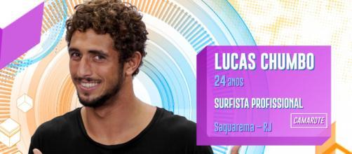 Lucas Chumbo está eliminado do 'BBB20'. (Reprodução/Rede Globo)