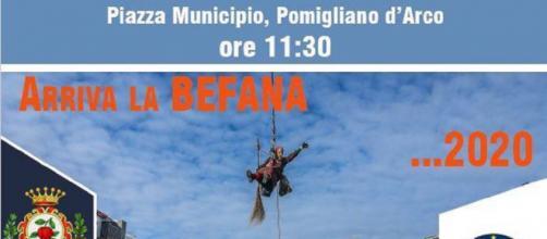 Pomigliano d'Arco, lunedì 6 torna il tradizionale appuntamento con la 'Befana del Vigile'