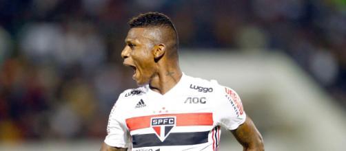 Arboleda fez o gol que garantiu os 3 pontos para o Tricolor do Morumbi. (Arquivo Blasting News)