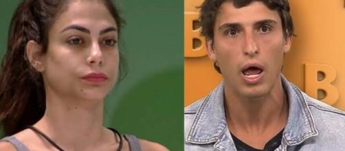 'BBB20': Felipe não gostou do amigo ter ido conversar com Mari. (Reprodução/Fotomontagem)