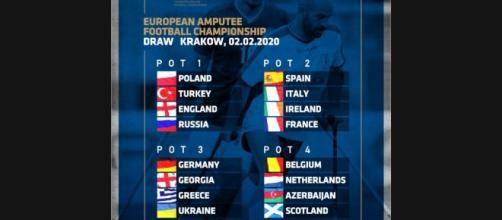 Calcio amputati, estrazione turni Europei