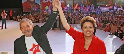 Lula e Dilma na Convenção Nacional do PT em Brasília. (Arquivo Blasting News)