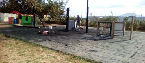 Giochi bruciati al Parco della Salute di Palermo
