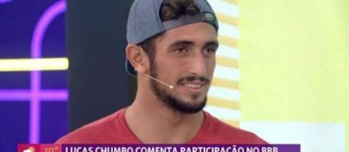 Lucas Chumbo foi o convidado do 'Se Joga'. (Reprodução/TV Globo)