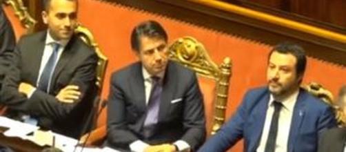 Luigi Di Maio, Giuseppe Conte e Matteo Salvini.