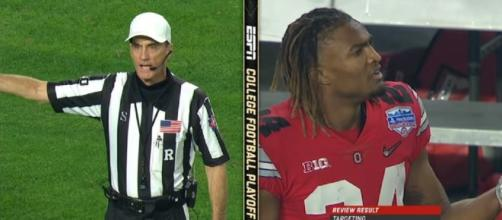 Pressure piles up on refs, Buckeyes now wants refs to be sacked over Fiesta Bowl 'Robbery'. Image credit:espn/Youtube screenshot