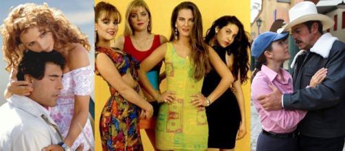 """""""Destilando Amor"""", """"Garotas Bonitas"""" e """"Menina Amada Minha"""". (Montagem/Divulgação/Televisa)"""