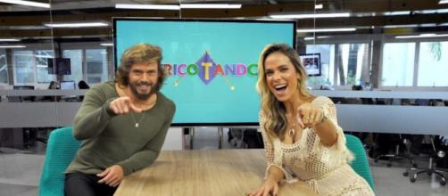 """Franklin David e Lígia Mendes, do """"Tricotando"""", da RedeTV!. (Reprodução/RedeTV!)"""
