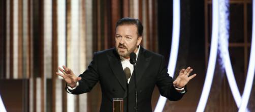Ricky Gervais critica a hipocrisia de Hollywood. (Arquivo Blasting News)
