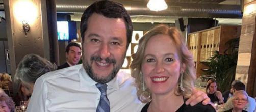 Eleonora Cimbro con Matteo Salvini