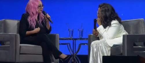 Lady Gaga took honesty to a whole new level with Oprah during her '2020 Vision: Your Life in Focus' talk. [Image source: ETCanada/YouTube]