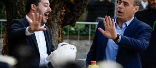 Matteo Salvini e Nicola Zingaretti