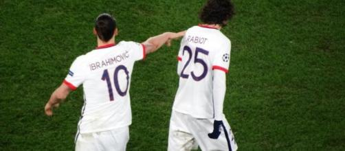Nella foto Ibrahimovic e Rabiot, nella loro esperienza al Paris Saint-Germain.
