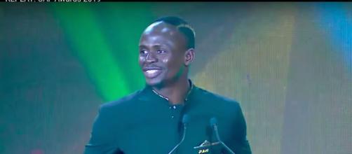 Sadio Mané a été sacré meilleur joueur africain de l'année. Credit: Capture d'écran/ Youtube
