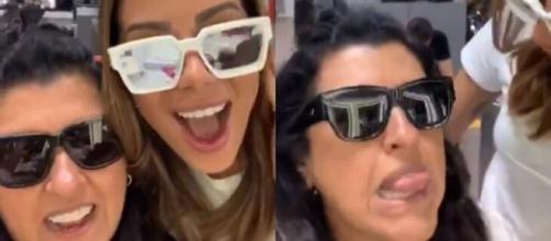 """Anitta e Regina Casé 'zoam' bastidores de """"Amor de Mãe"""". (Reprodução/Instagram/@anitta)"""