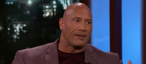 "Dwayne ""The Rock"" Johnson reacts to Brady's message (Image Credit: Jimmy Kimmel Live/YouTube)"