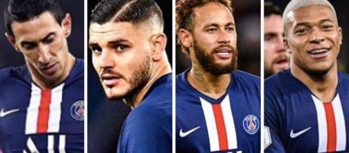 Les 4 joueurs de la stratégie PSG. Credit: Instagram/psg.