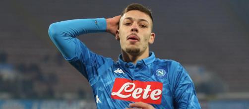Gianluca Gaetano con la maglia del Napoli