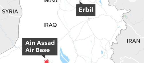 Pentagon confirms missile attack on Iraq bases (image credit BBC/You Tube