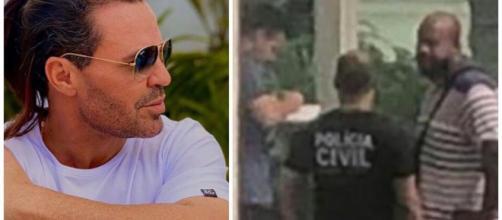 Eduardo Costa é intimado por polícia. (Reprodução/Fotomontagem)