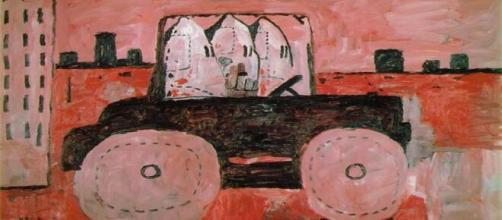 City Limits 1969 painted by Philip Guston is one in his clansmen series that gives museum pause. credit: wikiart.org xennex