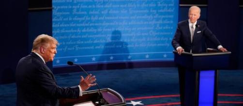 Momentos del debate presidencial en EEUU.
