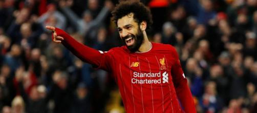 Salah é um dos candidatos a ser artilheiro da Premier League. (Arquivo Blasting News)