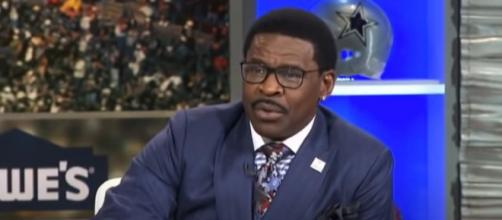 Irvin says the short week had taken its toll on Brady. [Image Source: First Take NFL/YouTube]