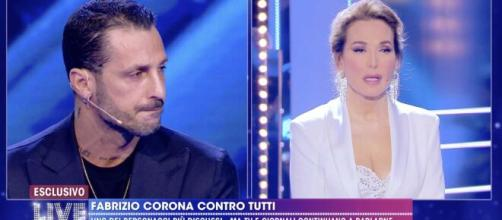 Live, Fabrizio Corona: 'Quello tra Giulia Salemi e Francesco non era amore'.