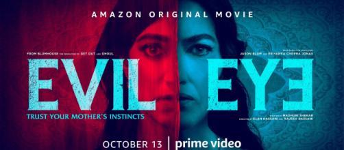 Arte de divulgação do filme 'Evil Eye' da Amazon Prime Video. (Arquivo Blasting News)