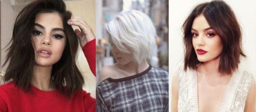 I tagli capelli scalati e tonalità: l'effetto spettinato e il biondo freddo per l'autunno 2020.