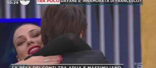 GF Vip, Massimiliano e Adua si confrontano, lei: 'Mi interessa che mi abbia perdonata'.