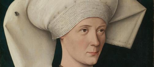Portrait of a Woman of the Hofer Family (circa 1470) by an unknown Swabian artist. [Image Source: Gandalf's Gallery/Flickr]