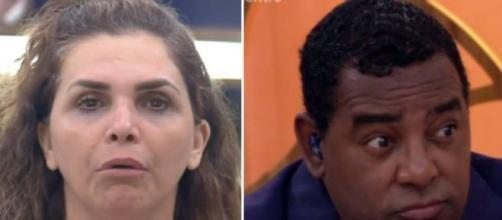 Romance entre Luiza Ambiel e cantor do Raça Negra vem à tona. (Fotomontagem)