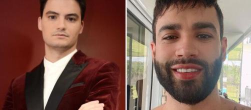 Após Felipe Neto cobrar ataques à Gusttavo Lima nas redes sociais, fãs do cantor se revoltam. (Arquivo Blasting News)
