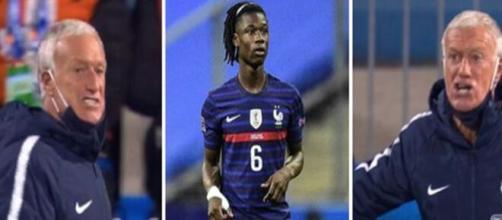 Camavinga s'est vivement fait rappeler à l'ordre par Deschamps lors de Croatie-France (Source : montage photo)