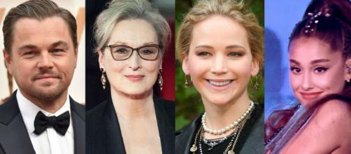 Leonardo DiCaprio, Meryl Streep, Jennifer Lawrence y Ariana Grande en la nueva comedia de Netflix