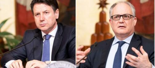 Il presidente del Consiglio, Giuseppe Conte, ed il Ministro dell'economia e delle finanze, Roberto Gualtieri.