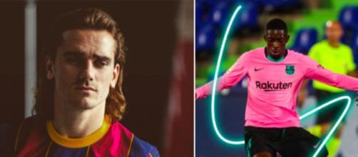 La presse et les supporters dézinguent les deux français du FC Barcelone - Photo montage capture d'écran Instagram