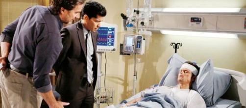 Beautiful, spoiler all'1° novembre: Thomas è grave in ospedale, Ridge è furioso con Logan.
