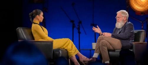 David Letterman confrontó a Kim Kardashian West sobre trabajar con Trump. - thedailybeast.com