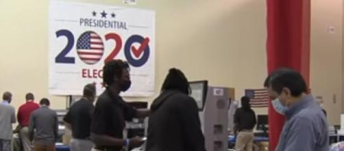 Election 2020: More than 10 million Americans cast early votes. [Image source/Al Jazeera English YouTube video]
