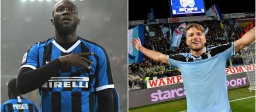 Lukaku e Immobile são os principais nomes no ataque entre Internazionale e Lazio. (Arquivo Blasting News)