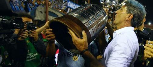 O Grêmio de Renato Portaluppi mais uma vez alcançou as oitavas de final da Libertadores. (Arquivo Blasting News)