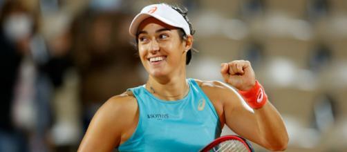 Roland-Garros : Garcia gagne contre Mertens. © Thomas SAMSON / AFP