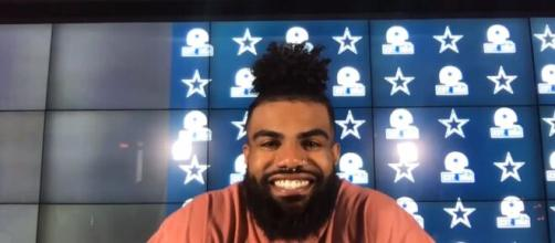 Dallas Cowboys: Ezekiel Elliott apologized for the fumbles and looked dejected in his interview. [Image Source: ESPN/ YouTube]