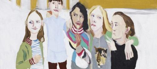 Detail of The Glasgow Boys and Girls by Chantal Joffe. (Image Credit: Flickr/The Lowry)