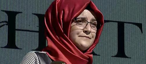 Hatice Cengiz, fiancee of slain journalist Jamal Khashoggi, is taking the Saudi Crown Prince to court. [Image Source: Washington Post/YouTube]