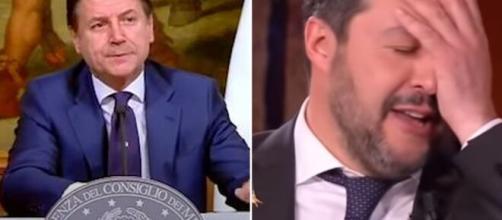 Matteo Salvini attacca Giuseppe Conte dopo l'informativa in Senato.